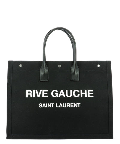 Saint Laurent Rive Gauche Canvas Tote Bag