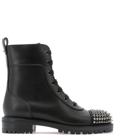 Christian Louboutin Studded Lace-Up Boots