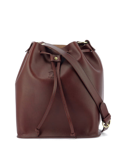 Il Bisonte Logo Drawstring Bucket Bag