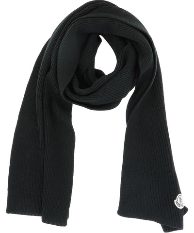 Moncler Logo Patch Scarf