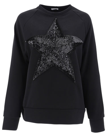 P.A.R.O.S.H. Star Sequined Crewneck Sweater