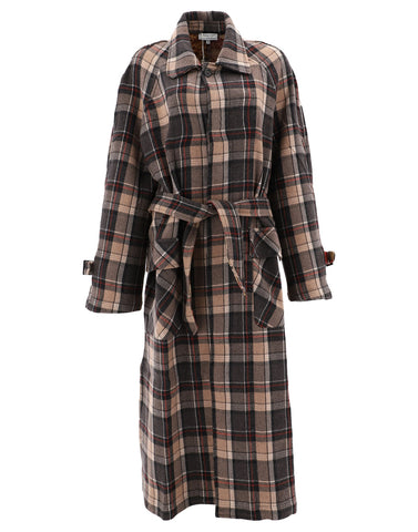 Pierre-Louis Mascia Checked Trench Coat