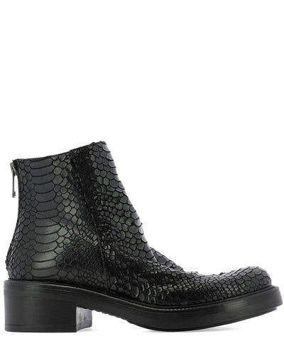 Strategia Embossed Ankle Boots