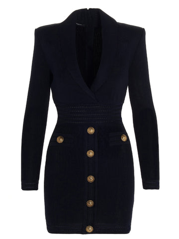Balmain Knitted Mini Dress