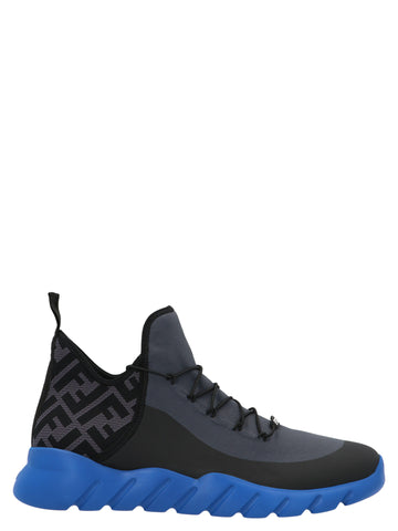 Fendi Tech Mesh High-Top Sneakers