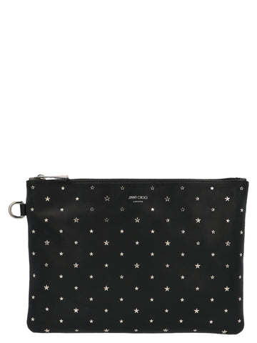 Jimmy Choo Derek Star Studded Clutch Bag
