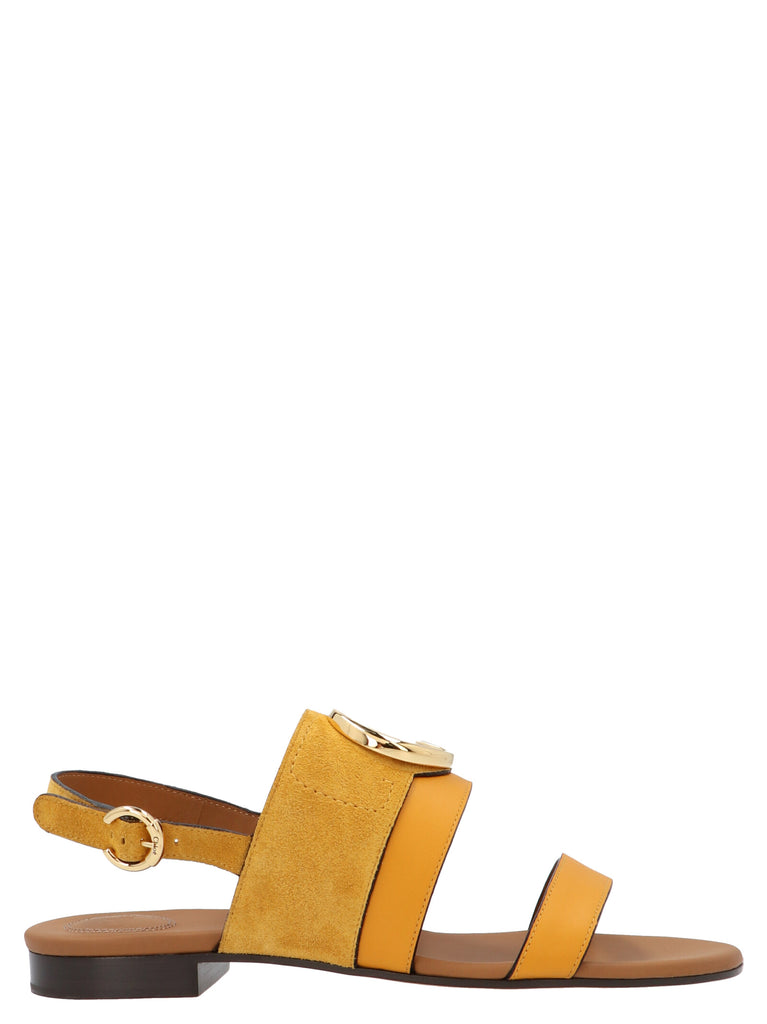Chloé Logo Plaque Sandals
