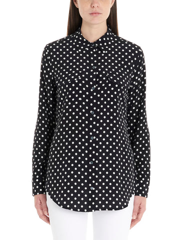 Equipment Polka Dot Print Shirt