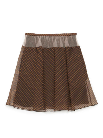 Fendi Checked Mini Skirt