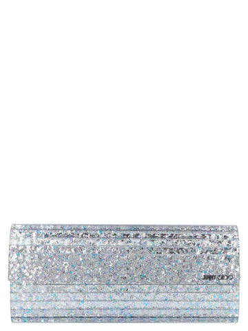 Jimmy Choo Sweetie Glitter Clutch Bag