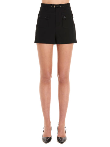 Red Valentino Belted Mini Shorts