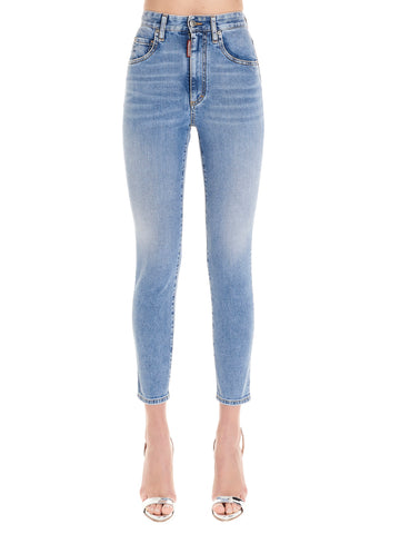 Dsquared2 High Waist Cropped Jeans