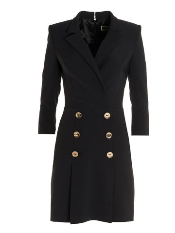 Elisabetta Franchi Double Breasted Coat Dress