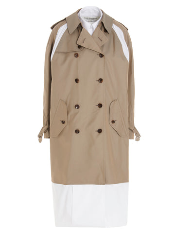 Junya Watanabe Layered Double-Breasted Trench Coat