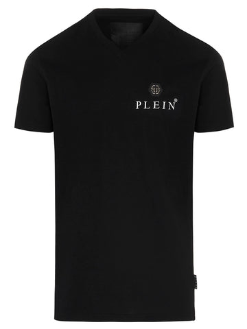 Philipp Plein Logo Patch V-Neck T-Shirt