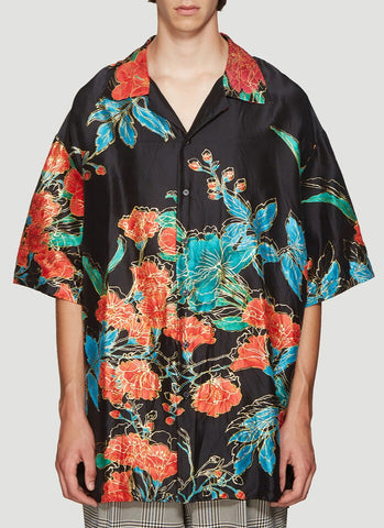 Gucci Oversized Floral Print Shirt