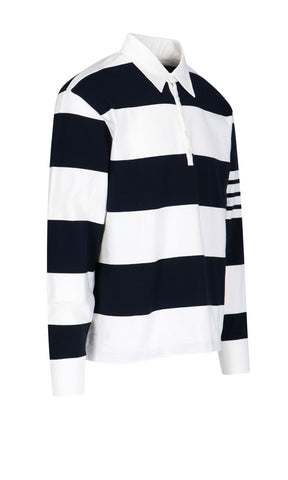 Thom Browne Striped Rugby Polo Shirt