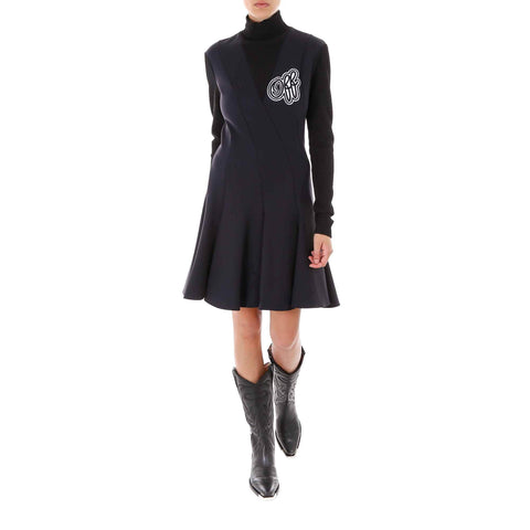 Off-White Cheerleader Turtleneck Dress