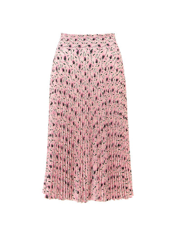 Prada Paisley Printed Pleated Skirt