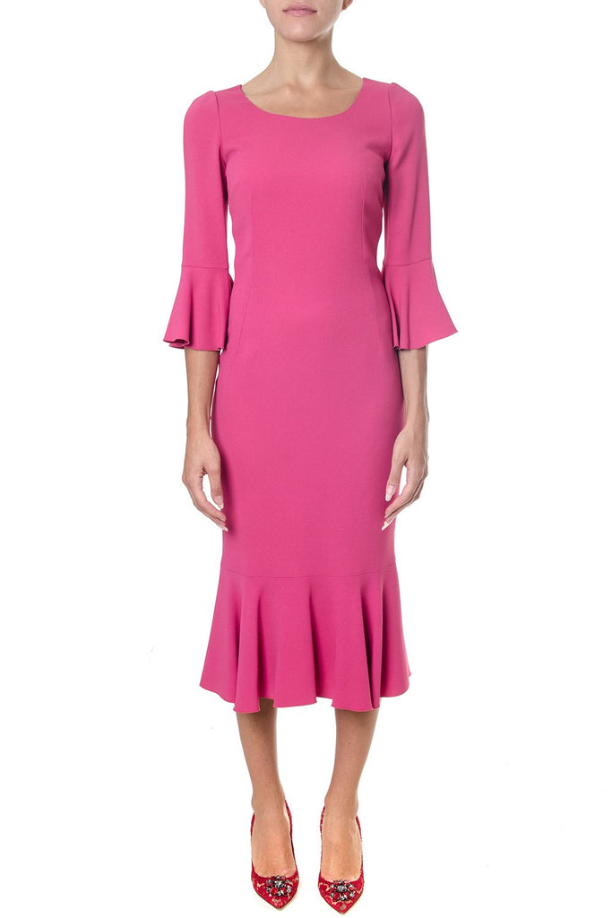 Dolce & Gabbana Frill Sleeve Fitted Dress