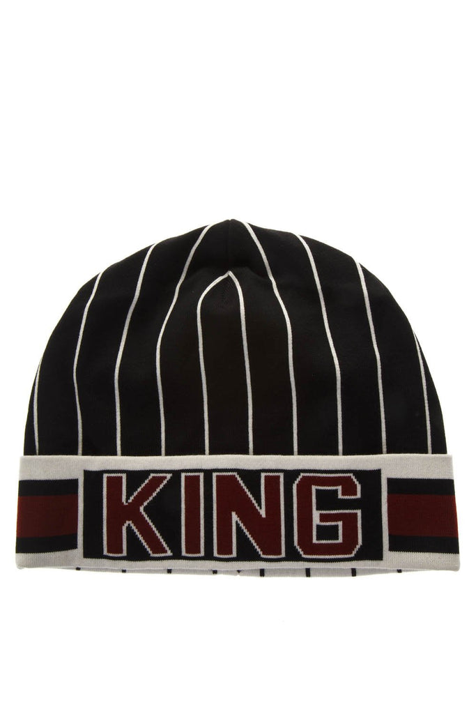 Dolce & Gabbana Striped King Logo Beanie