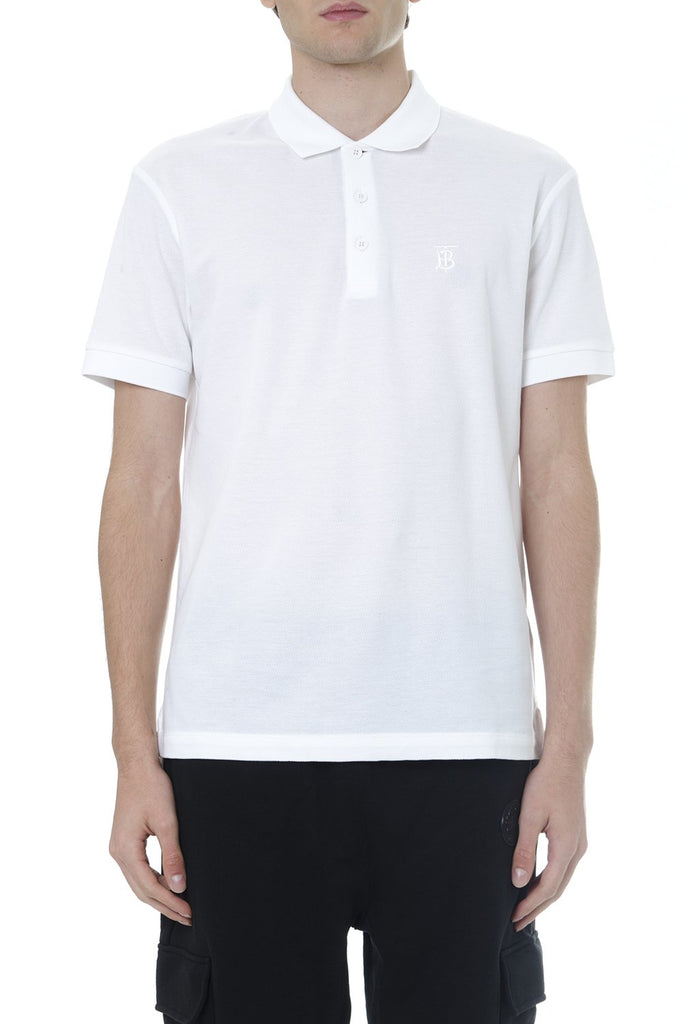 Burberry Logo Embroidered Polo Shirt