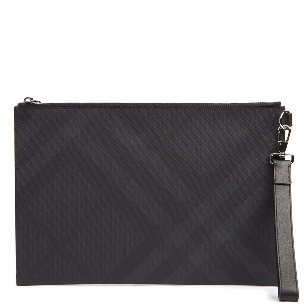 Burberry London Check Zipped Clutch Bag