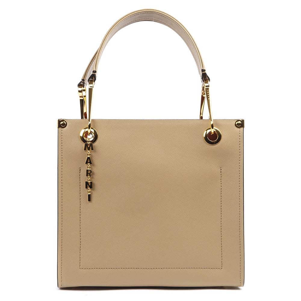 Marni Two-Tone Logo Tote Bag