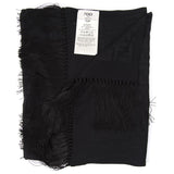 Fendi Logo Monogram Fringed Shawl