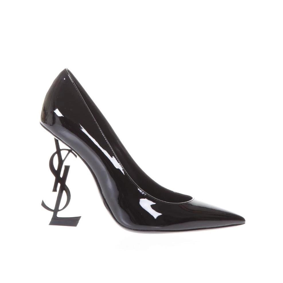 Saint Laurent Opyum Heel Logo Pump