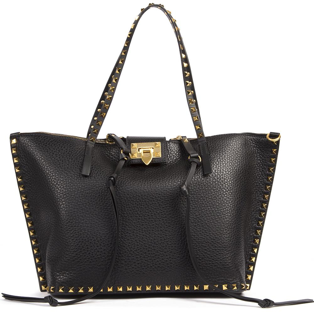Valentino Garavani Rockstud Top Handle Tote Bag