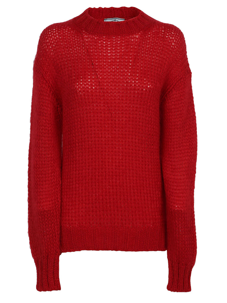 Prada Chunky Knit Relaxed Fit Sweater