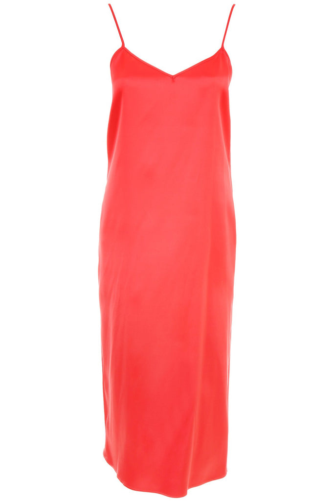 Salvatore Ferragamo Pure Silk Satin Slip Dress