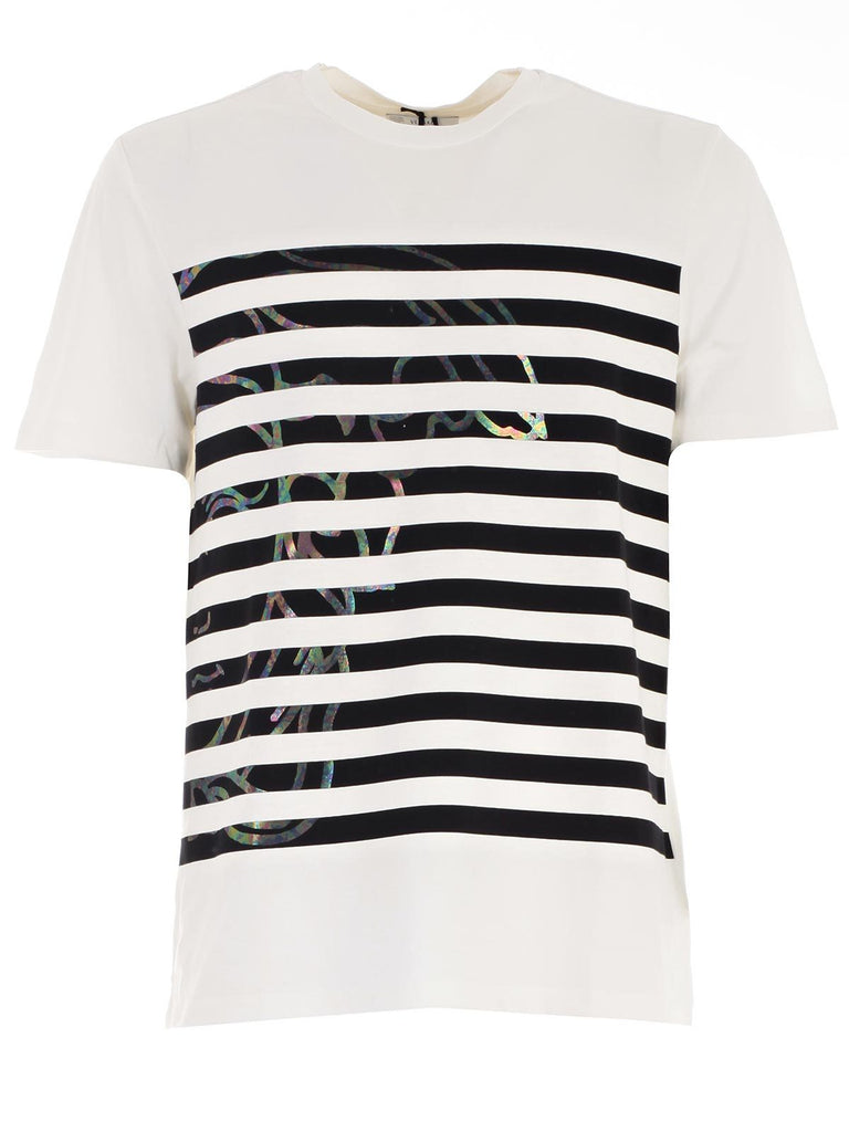 Versace Collection Striped Cotton T-Shirt