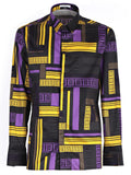 Versace Collection Geometric Print Shirt