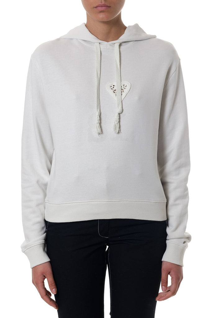 Saint Laurent Embroidered Heart Hoodie