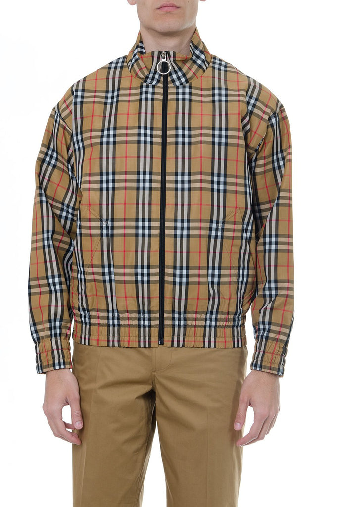 Burberry Checked Zipped Jacket