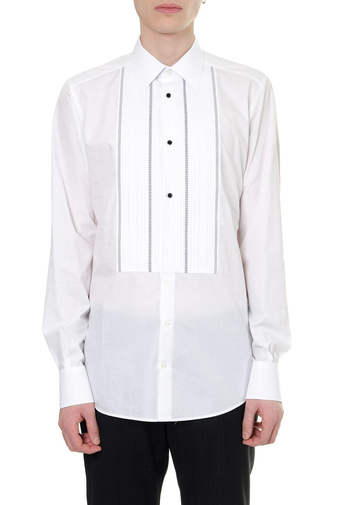 Dolce & Gabbana Trim Insert Button-Up Shirt
