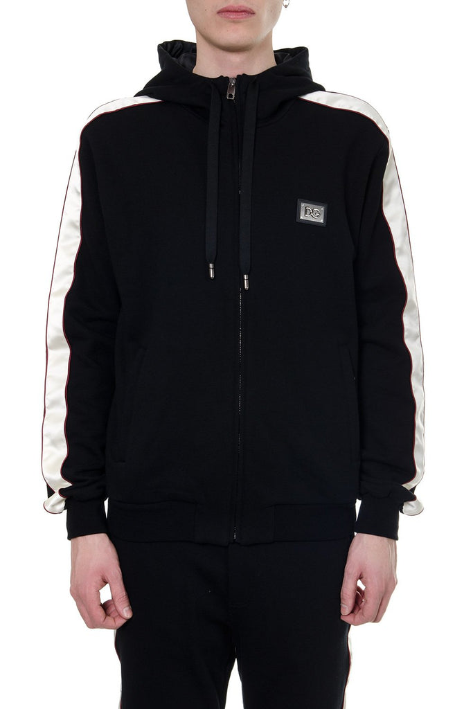 Dolce & Gabbana Contrasting Trim Hooded Jacket