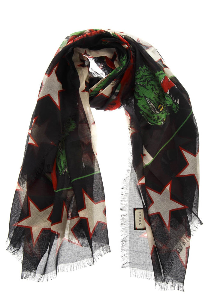 Gucci Snake Print Scarf
