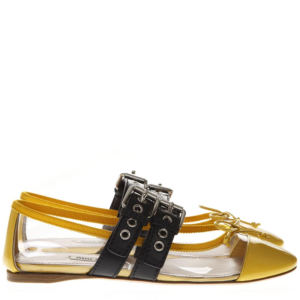 Miu Miu Buckle Detail Ballerinas
