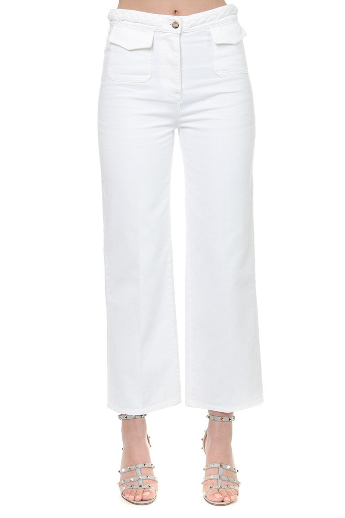 Valentino Belted Cropped Pants