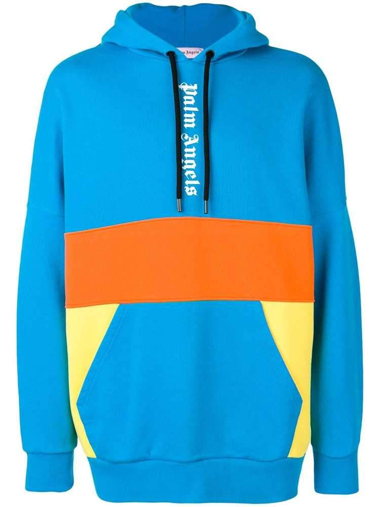Palm Angels Oversized Colour Block Hoodie
