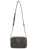 Prada Diagramme Logo Embossed Shoulder Bag
