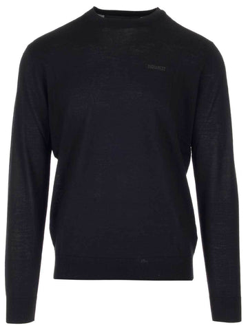 Dsquared2 Chest Logo Knitted Jumper