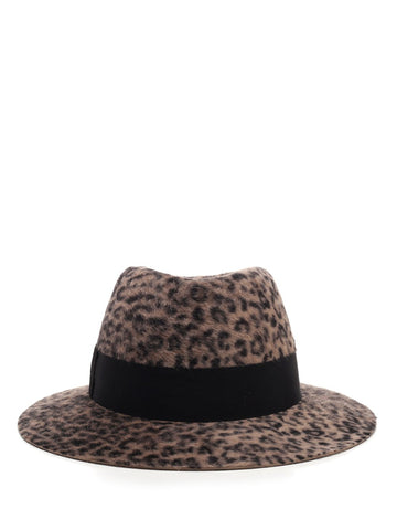 Saint Laurent Textured Leopard Felt Hat