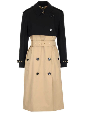 Burberry Reconstructed Two-Tone Belted Trench Coat
