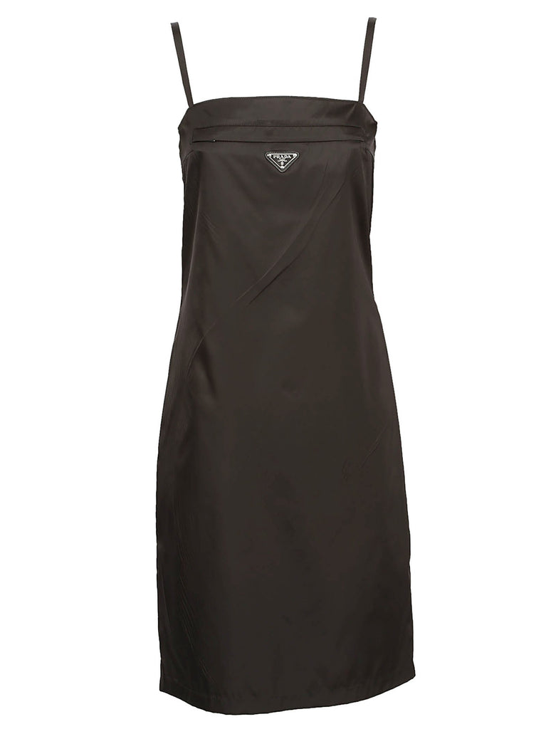 Prada Logo Plaque Shift Dress