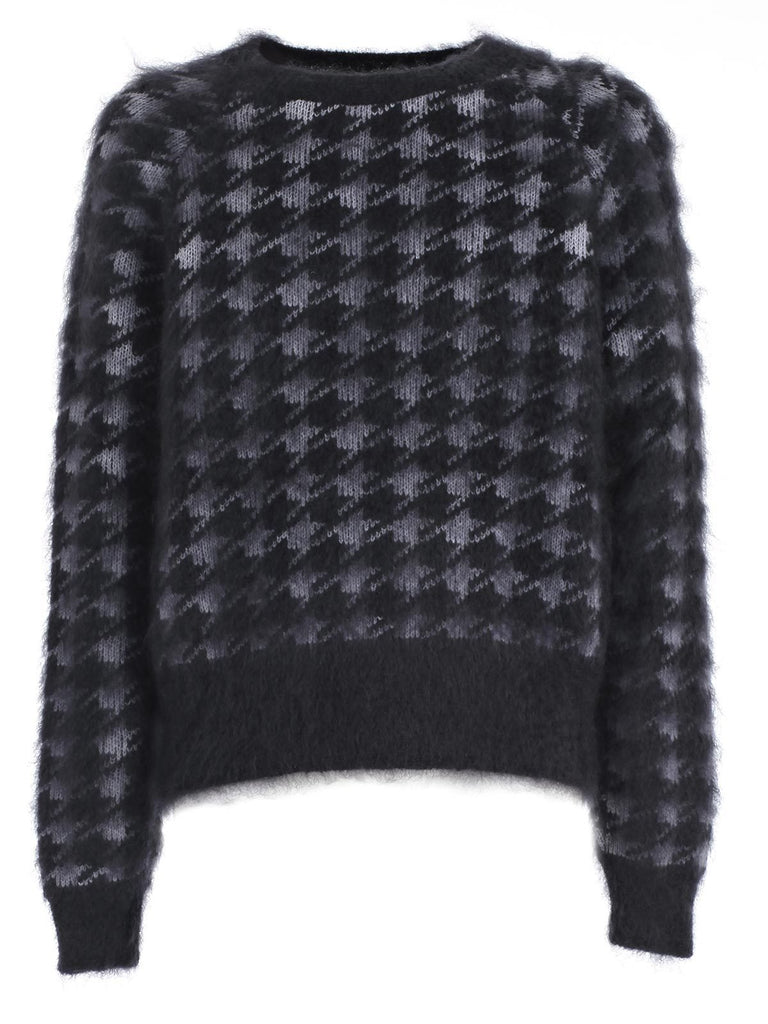 Haider Ackermann Dog Tooth Check Mohair Jumper