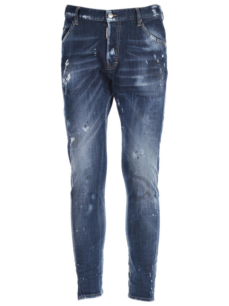 Dsquared2 Distressed Stone Wash Jeans